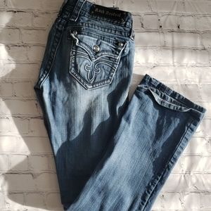 Rock Revival Celine Boot Blue Jean's Size 28x30